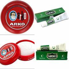 Arko Shaving Soap 90g In Case Bowl | Classic Wet Shaving + Arko Afterhsvae Cream