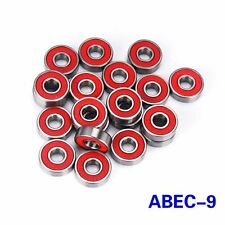 8pcs/set ABEC-9 608ZB Skateboard Bearings Longboard Rollerblade Wheel Steel Red