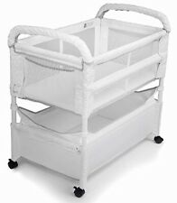 Arm's Reach Clear-Vue Baby Co-Sleeper Bedside Bassinet White NEW
