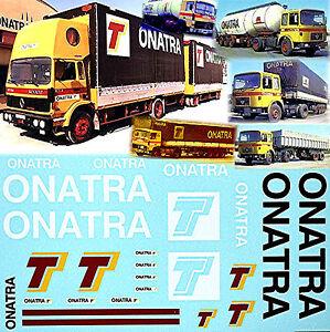 ONATRA France Tank or Silo + Canvas Trailer 1:50 Truck Decal LKW Abziehbild