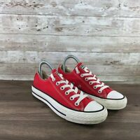 Converse All Star Low Top Mens 4.5 / Womens 6.5 Red Chuck Taylor Canvas Sneakers