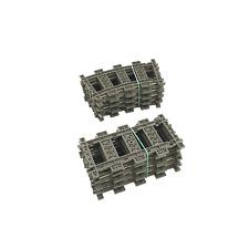 Lego 9V Eisenbahn TRAIN 8x 4520 Gebogene + 8x 4515 Gerade Schienen