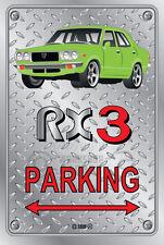 Parking Sign Metal MazdA RX3 4-door-11 - Checkerplate Look