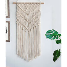 Vintage Macrame Woven Wall Hanging Tapestry Bohemian Geometric Decor 15x29inch