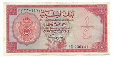 Libya Libia Libyan Banknote 1/4 Pound 1963 P23 gVF  Rare Paper Money Old
