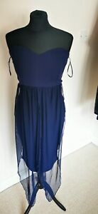 Quiz Navy Dress Size 10 Brand New With Tags BNWT RRP 29.99