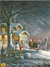 Winter Wonderland Sleigh Snowman Terry Redlin 300pc Bagged Boxless Jigsaw Puzzle