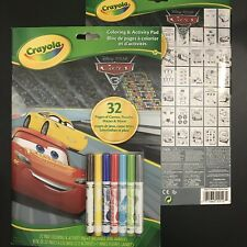 Cars 3, 32 Page Coloring & Activity Pad & 7x Washable Mini Markers (Lot of 2)