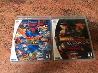 Marvel vs. Capcom 1 And 2. Sega Dreamcast Game Case.  Empty Replacement Case.