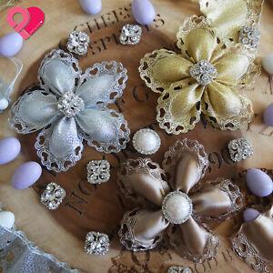 Flower Heart Pull Bow Ribbon Pouch Jordan Almond Holder Baby Wedding Party Favor