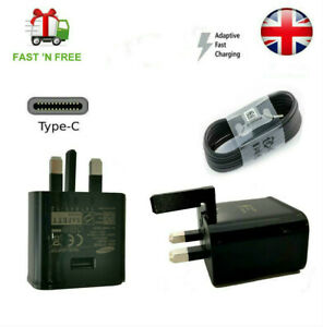 Fast Uk Plug Wall Charger & Type-C Cable For Samsung Galaxy S8 S9 S10 Note8 9 10