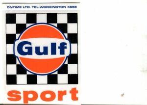 GULF Sport - original period sticker autocollant adhesivo Aufkleber unused