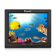 "Small 8"" inch IPS Color FHD Monitor 4:3 Video Audio HDMI VGA fr CCTV DVD FPV DVR"