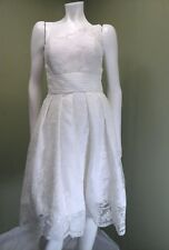 Clarisse Prom, Party, Evening Formal White One Shoulder Lace Dress~Size 8