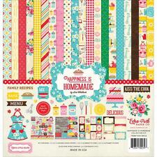 ECHO PARK PAPER CO HAPPINESS IS HOMEMADE COOKING SCRAPBOOK KIT PAPERS & STICKERS