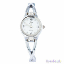 New Womens Fashion Bracelet Wrist Watches Luxury Rhinestone Quartz Analog Watch