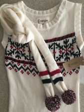 Energie Juniors S Sweater Dress & Scarf NWT