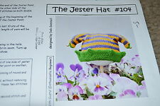 Cabin Fever 104 Jester Hat Knitting Pattern  6 months, 18 months