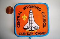 OA CENTRAL WYOMING COUNCIL FLAP SCOUT CUB DAY CAMP SPACE SHUTTLE POCKET PATCH