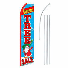 CHRISTMAS TREE SALE - Advertising Sign Swooper Feather Banner Flag & Pole Only