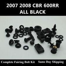 Complete Fairing Bolt Kit Black Body Screws for HONDA 2007 2008 CBR 600RR 07F5