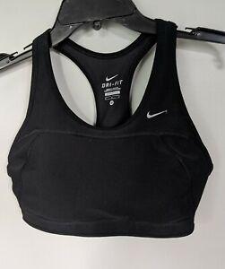 Nike Pro dri-fit size Medium black  swoosh women's sports bra