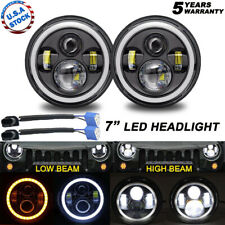 "Pair H6024 7"" Inch LED Headlight HI/Lo Sealed Beam for Chevy Truck Camaro C10"