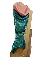 Cynthia Rowley Reversible Sequin Mermaid Tail Blanket Sleeping Bag turquoise