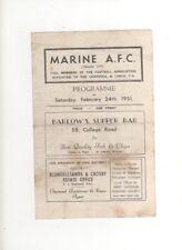 1950-51 MARINE v ACCRINGTON STANLEY RESERVES 24th February 1951