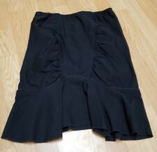 Luv Luv Size Large Solid Black Bodycon Mini Skirt Zipper Stretch