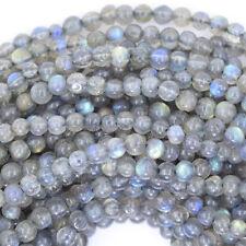 "3mm grey labradorite round beads 13"" strand"