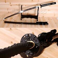 Japanese T10 Steel Katana Clay Tempered Samurai Sword Heat Treated Sharp Blade