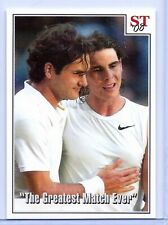"FEDERER VS NADAL 2008 WIMBLEDON ""THE GREATEST MATCH EVER"" TRIBUTE TENNIS CARD"