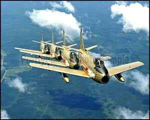 RCAF F-86 Sabre Golden Hawks 4-Ship Formation 1960 8x10 Aircraft Photos