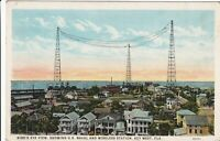 Key West Florida US Naval and Wireless Station Vintage Postcard Buildings Towers