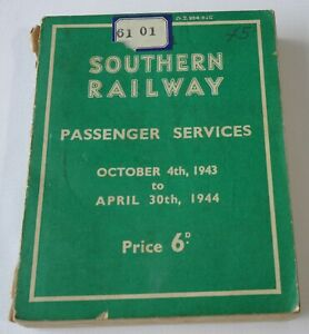 Southern Railway - Passenger Service Time Tables - October 4th 1943