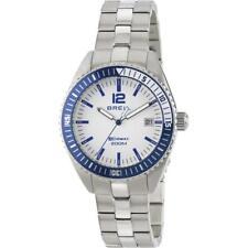 Wristwatch BREIL MIDWAY TW1695 Stainless Steel Sub 200mt White Blue 36mm