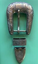 Mccabe Sterling Silver Buckle Set