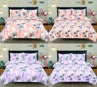 Flamingo Tropical Bird Land Print Bedding Single Double King Duvet Cover Set