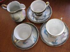 "Vintage Japanese Hand Painted Raised Dragon Tea Set, ""Betson"" sign -- SEE PICS"