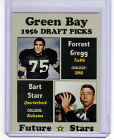 BART STARR & FORREST GREGG, '56 GREEN BAY PACKERS DRAFT PICKS ROOKIE STARS