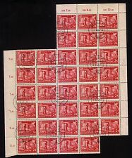 Germany: Scott + 100 $, stamps Scott  108-109, used in Block, 35 Sets. GE103