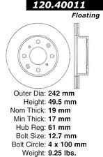 Disc Brake Rotor-High Performance Drilled And Slotted fits 84-89 Honda Accord