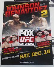 UFC on Fox 9 25x Signed Event Program PSA/DNA w/ Demetrious Johnson Urijah Faber