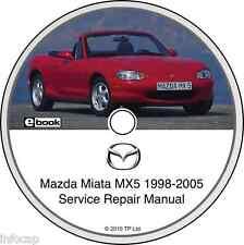 1998-2005 MAZDA MIATA MX5 PROFESSIONAL SERVICE REPAIR MANUAL ON CD