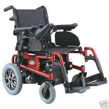 """CTM Folding Power Wheelchair with 17""""x17"""" Seat HS-6200 (Choose Red or Blue)"""