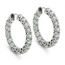 2.00 ct Round Cut Diamond Hoop Huggie Earrings