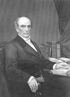 Supreme Court Lawyer DANIEL WEBSTER ~ Antique 1873 Art Print Engraving Portrait