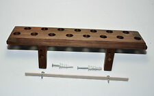 WALL MOUNTED   WALNUT BOTTLE STOPPER DISPLAY RACK HOLDS 15 STOPPERS