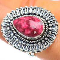 Large Thulite 925 Sterling Silver Ring Size 8.75 Ana Co Jewelry R44249F